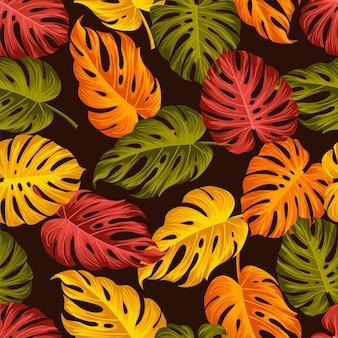 紅葉とのシームレスなパターン