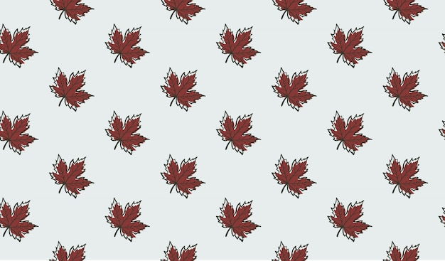 Seamless pattern with autumn maple leaves