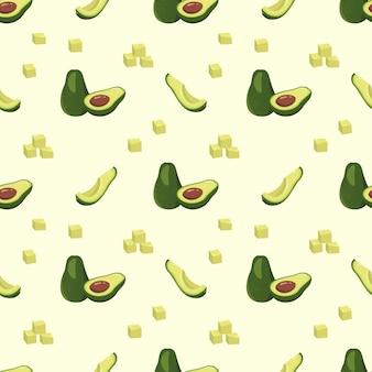 Бесшовный фон с авокадо