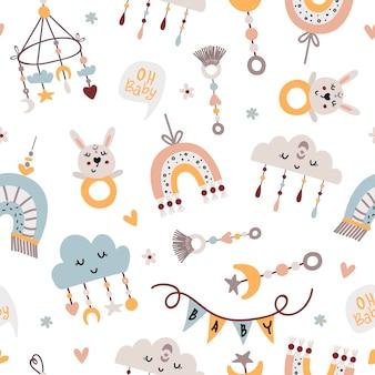 아기 휴대폰 및 장난감 원활한 패턴