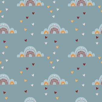 아기 무지개와 함께 완벽 한 패턴