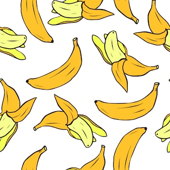 Seamless pattern with bananas. vector seamless texture for wallpapers, pattern fills