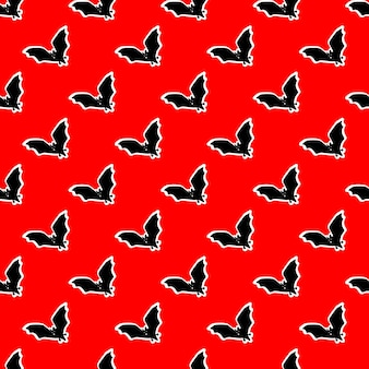 Бесшовные модели с летучими мышами на красном фоне векторные иллюстрации дизайн для хэллоуина