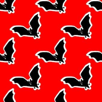 박쥐 벡터 일러스트와 함께 완벽 한 패턴