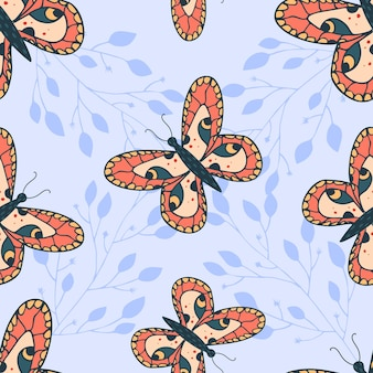 아름다운 나비와 함께 완벽 한 패턴