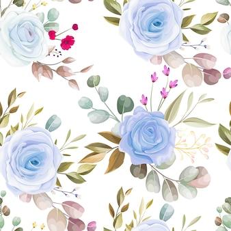 아름 다운 꽃으로 완벽 한 패턴