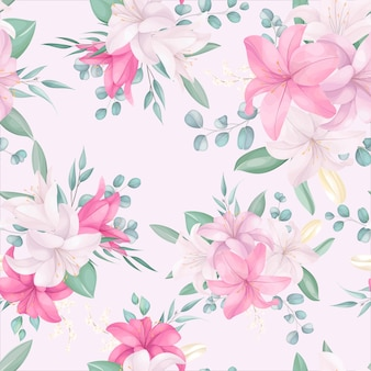 Seamless pattern with beautiful floral