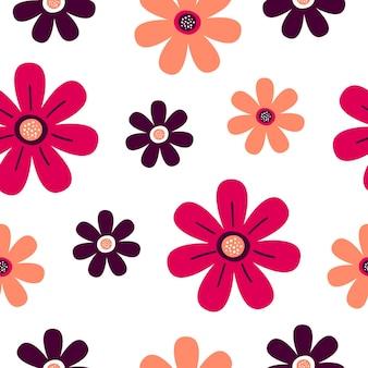 아름 다운 양식에 일치 시키는 꽃으로 완벽 한 패턴입니다. 섬유 및 포장용 인쇄.