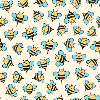 ミツバチとのシームレスなパターン