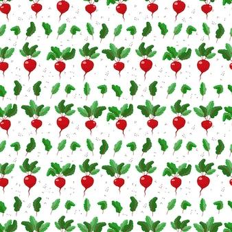 주방 섬유에 대한 사탕무와 잎사귀 야채 패턴으로 원활한 패턴