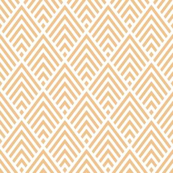 ベージュの幾何学的なデザインとシームレスなパターン