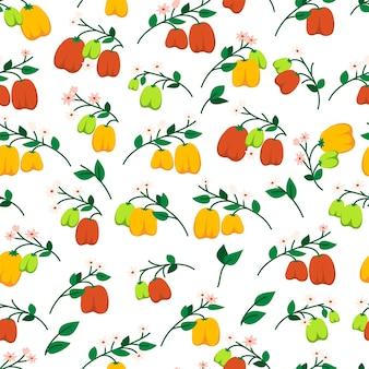 ピーマンとのシームレスなパターン。野菜の無限のプリント