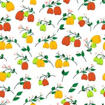 Seamless pattern with bell peppers. endless print of vegetables