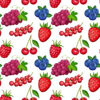果実とのシームレスなパターン