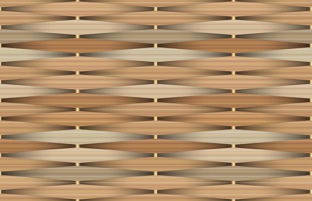 Seamless pattern with birchbark basketwork