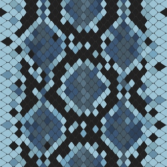 Seamless pattern with blue python print