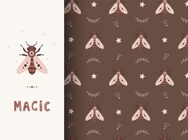 Boho 꿀벌과 함께 완벽 한 패턴입니다.