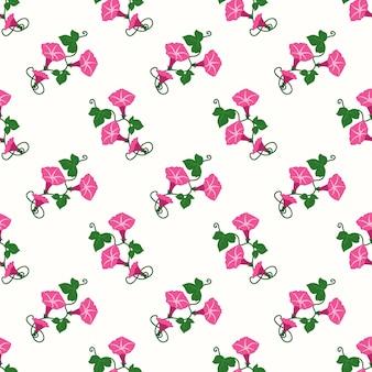 식물원 꽃 잎 식물을 가진 완벽 한 패턴