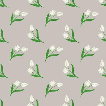 Бесшовный фон с ботаническими цветочными листьями
