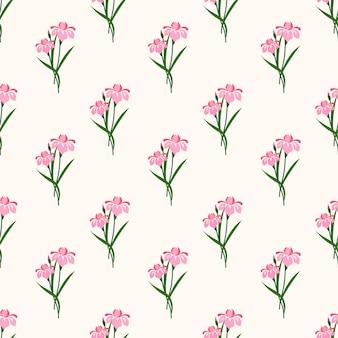 植物の花の葉の植物とのシームレスなパターン