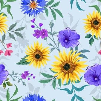 식물 꽃 디자인으로 완벽 한 패턴