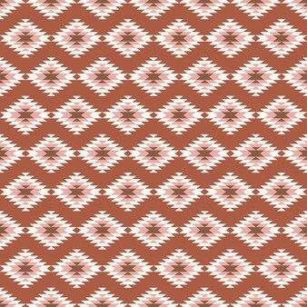 茶色のキリムまたはアステカのデザインとのシームレスなパターン