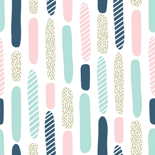 Seamless pattern with brush strokes and dot texture