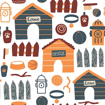 Бесшовный фон с кроликами, кроликом и весенними цветами на пасху на желтом фоне. векторный дизайн идеально подходит для ткани, текстиля, оберточной бумаги, обоев и печати.
