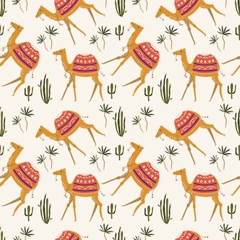Seamless pattern with camel.
