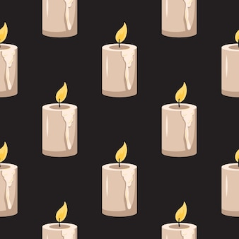 Seamless pattern with candles