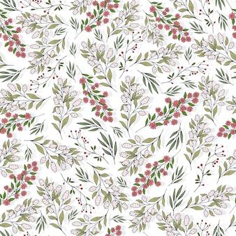 만화 꽃과 잎으로 완벽 한 패턴