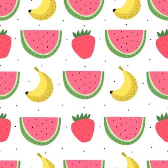 만화 과일 원활한 패턴