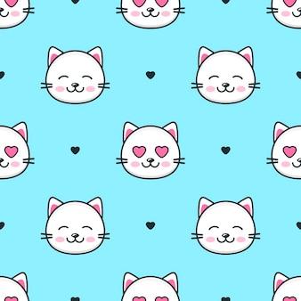 猫とのシームレスなパターン