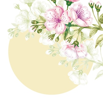 Seamless pattern with cherry blossom.