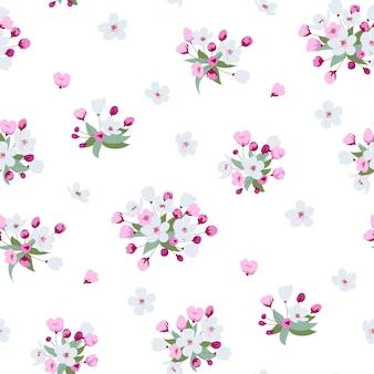 벚꽃과 함께 완벽 한 패턴