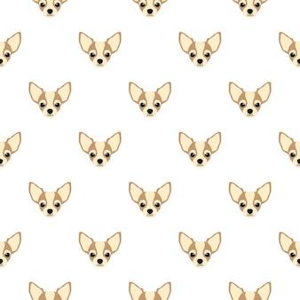 Seamless pattern with chihuahua