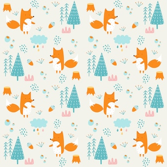 Seamless pattern with children's theme