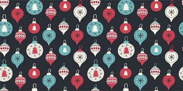 크리스마스 볼과 완벽 한 패턴입니다.