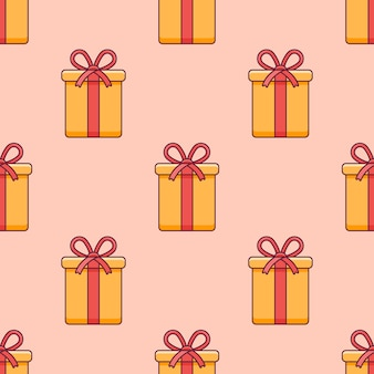 Seamless pattern with christmas gift box.