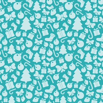 Seamless pattern with christmas paraphernalia
