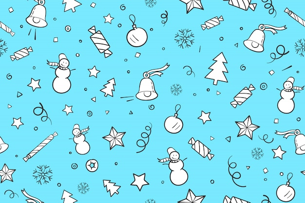 Seamless pattern with christmas theme