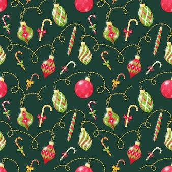 クリスマスツリーのおもちゃとのシームレスなパターン