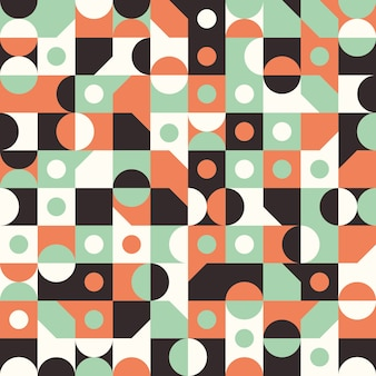 Seamless pattern with circles and semicircles