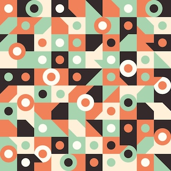 Seamless pattern with circles in squares