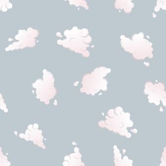 Бесшовный фон с облаками. подходит для фонов, принтов, одежды и текстиля.