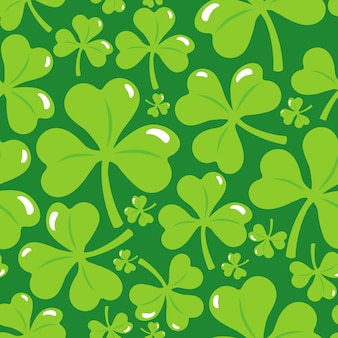 Seamless pattern with clover leaf
