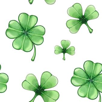 Seamless pattern with clover,  st. patrick's day