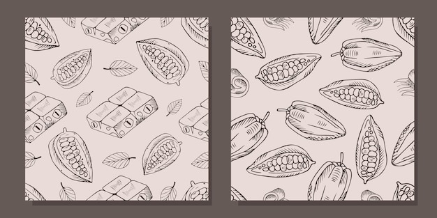 코코아 콩으로 완벽 한 패턴입니다.