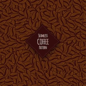 Seamless pattern with coffee beans. cartoon style.