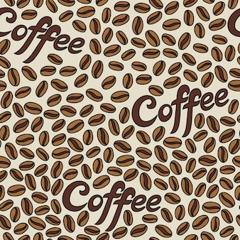 Seamless pattern with coffee beans. it can be used for desktop wallpaper or frame for a wall hanging or poster,for pattern fills, surface textures, web page backgrounds, textile and more
